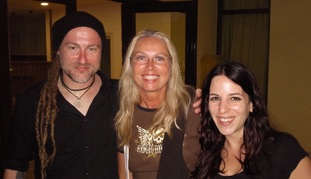 Reina with Chrigel and Meri, Eluveitie, Zadar, June 2012