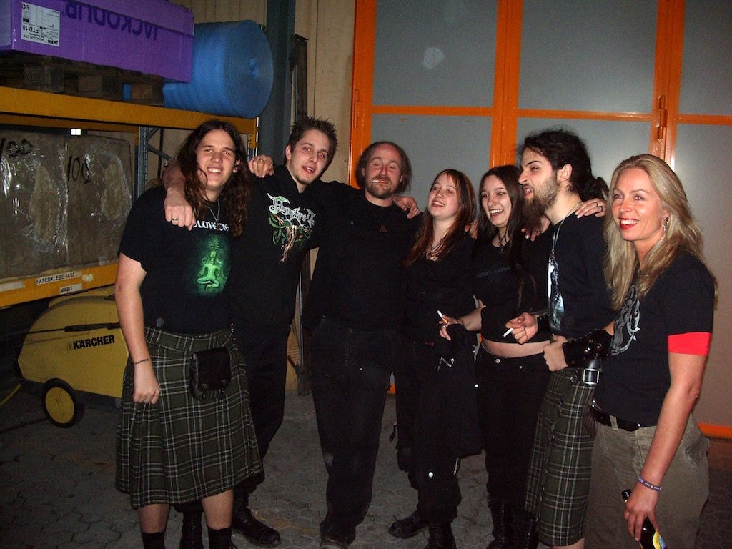 Reina, Chrigel (Eluveitie) & Hellvetica, March 2007