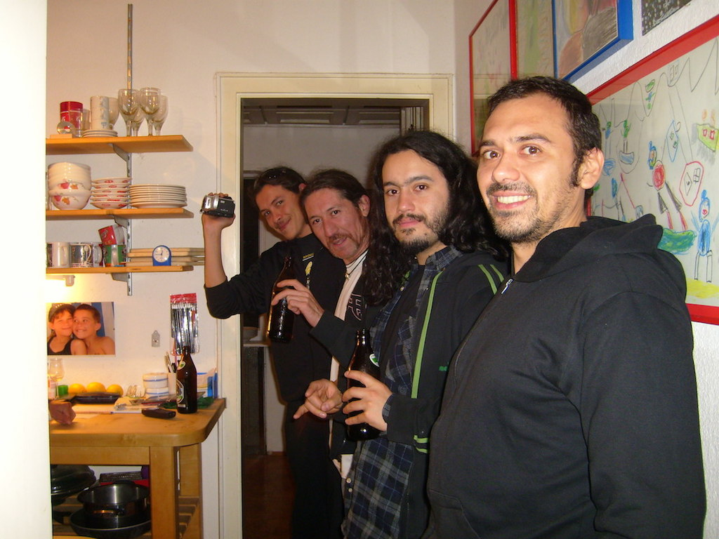 Huinca, Thrashmetal from Chile, in our house, September 2008