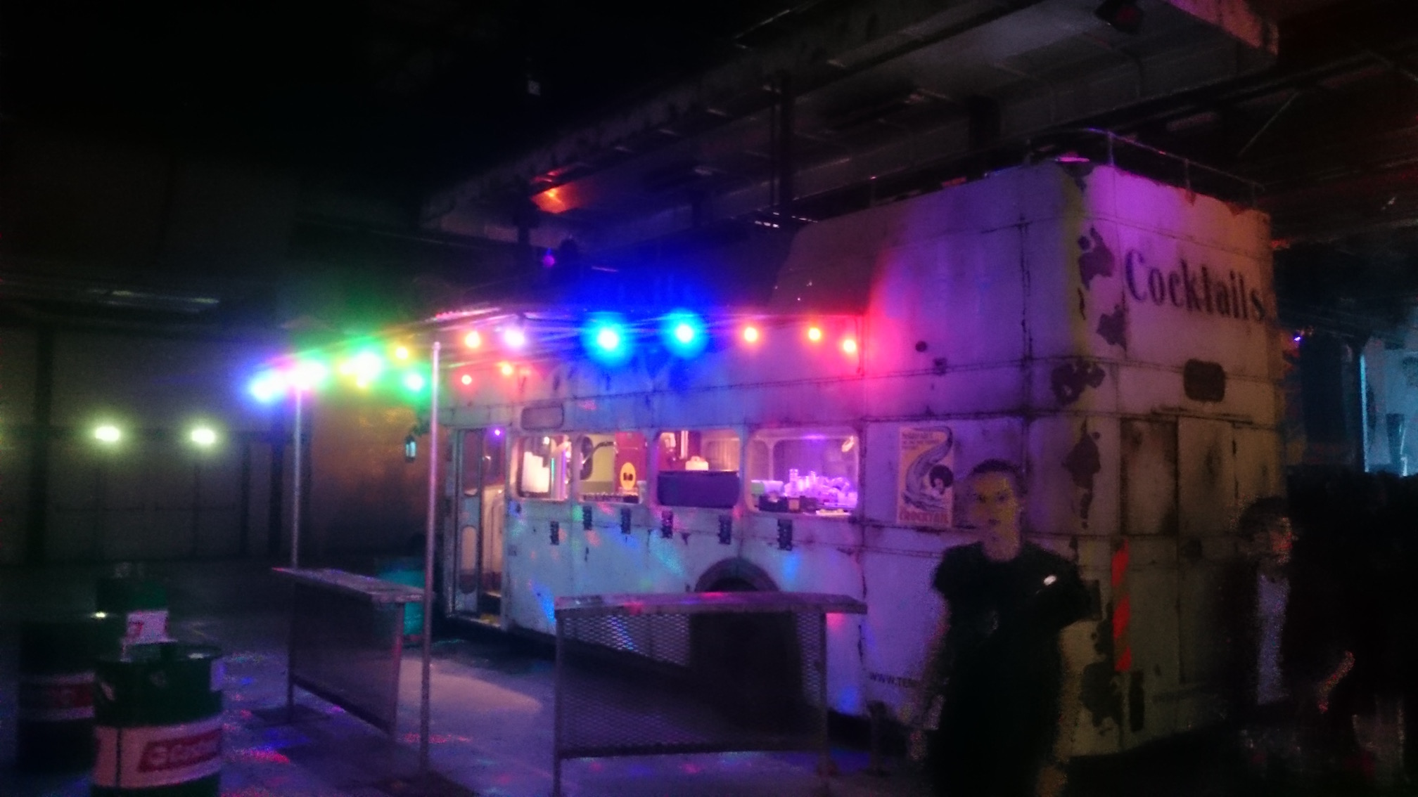 The cocktail bus at the Cobra Stage