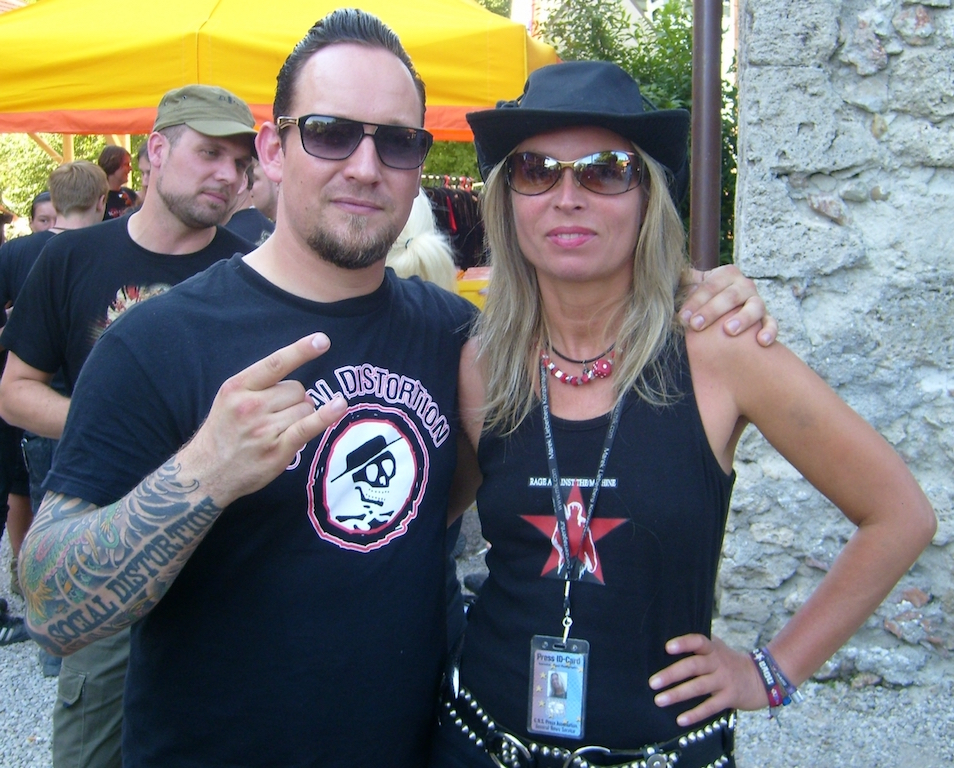 Reina with Micheal Poulsen, Volbeat, Metal Festival Minning, 2008