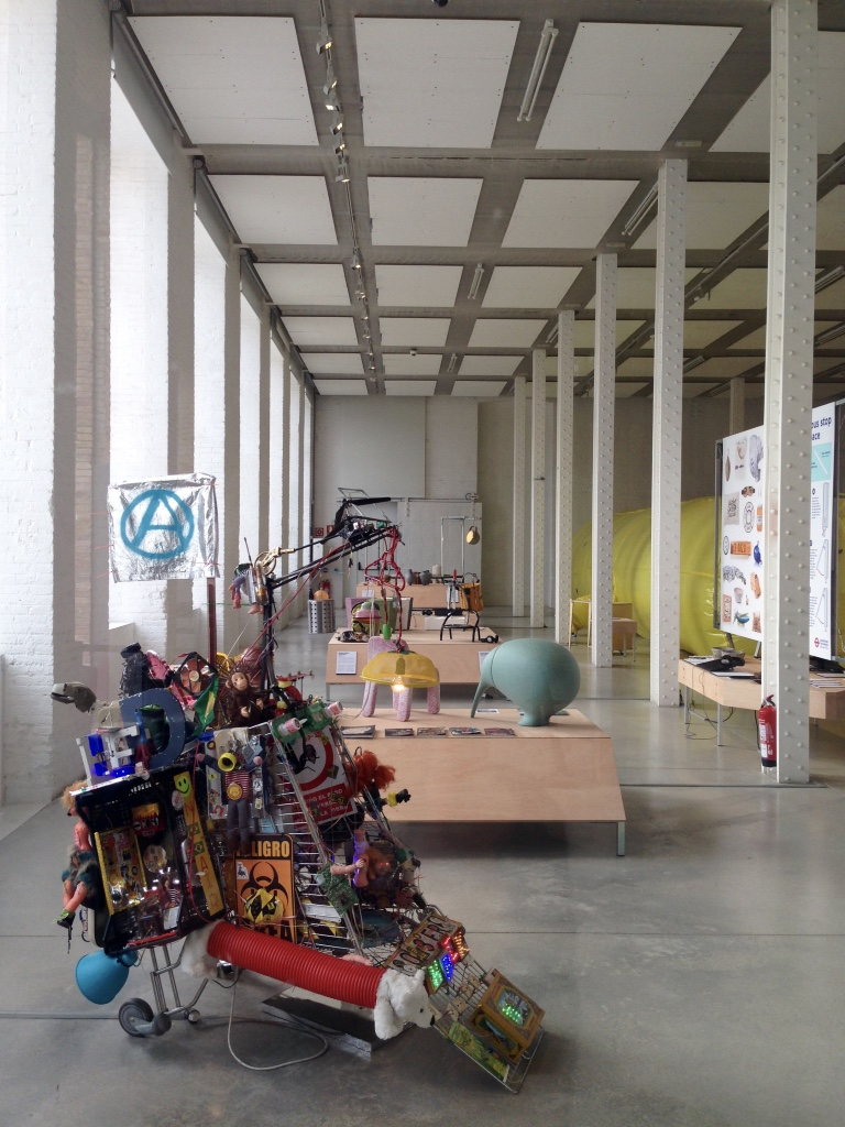 Exhibition of contemprorary art at Fabra i Coats