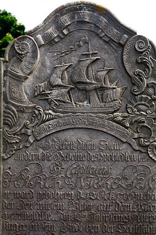 Friedhof in Nebel auf Amrum