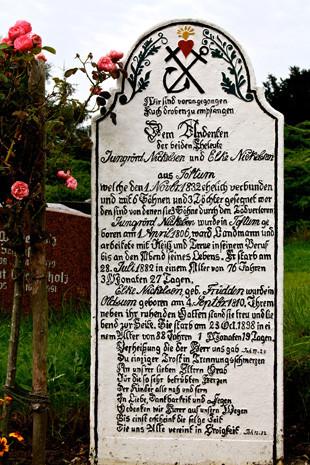 Friedhof in Süderende auf Föhr