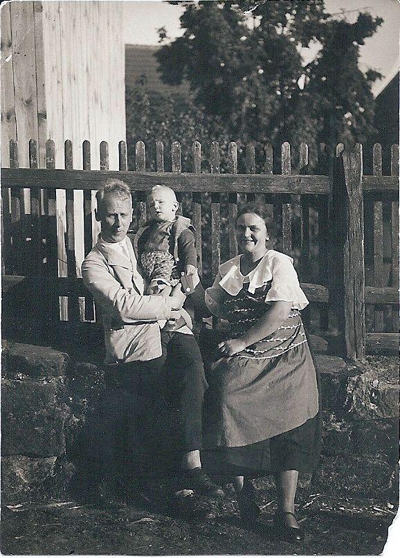 1927 Lehrer Präsent mit Familie