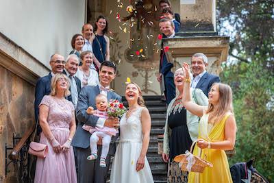Hochzeitsfilmer Gruppenfoto