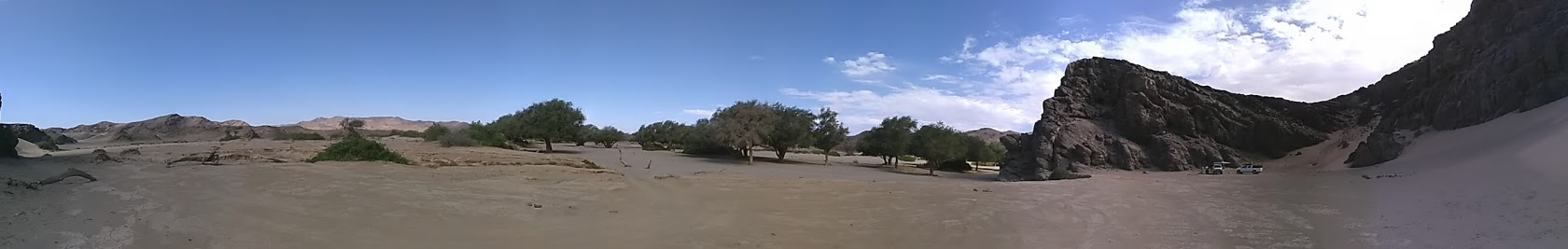 Wildcamping am Rande des Huanib