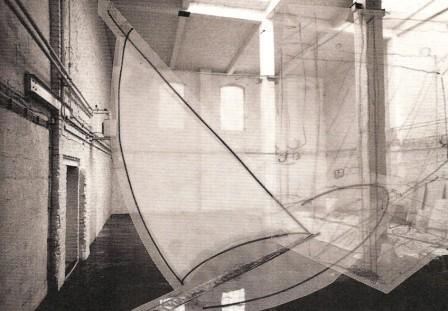 """""""Bateau Ivre""""; Entwurf für Rauminstallation; Collage; 80 x 100 cm; 1987"""