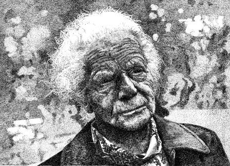 """Portrait Franziska""; Federzeichnung; 54 x 74 cm"