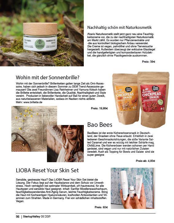 ABARIS Naturkosmetik - nachhaltig schön - im Startup Valley Magazin