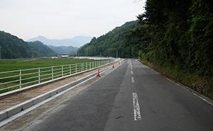 県道赤碕大山線歩道設置工事