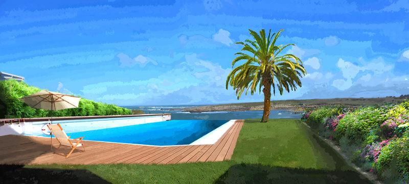 Perspective du projet d'implantation de la piscine