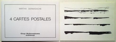 Mirtha Dermisache, 4 cartes postales, Guy Schraenen éditeur, 1978