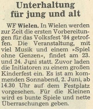 Grafschafter Nachrichten, 28. Mai 1984