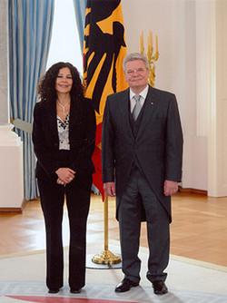 Botschafterin mit Präsident Gauck