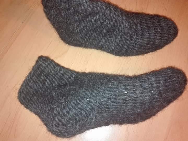 Nadelgebundene Socken im Yorkstich