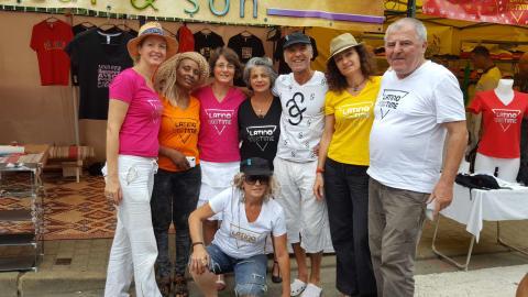 Christine, Colette, France, Pascale, Joël, Laurence, Alain et Sandrine sur le stand A & S