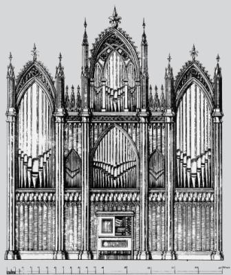 Perleberg/Prignitz, Johann Friedrich Turley, 1831 (Riss)