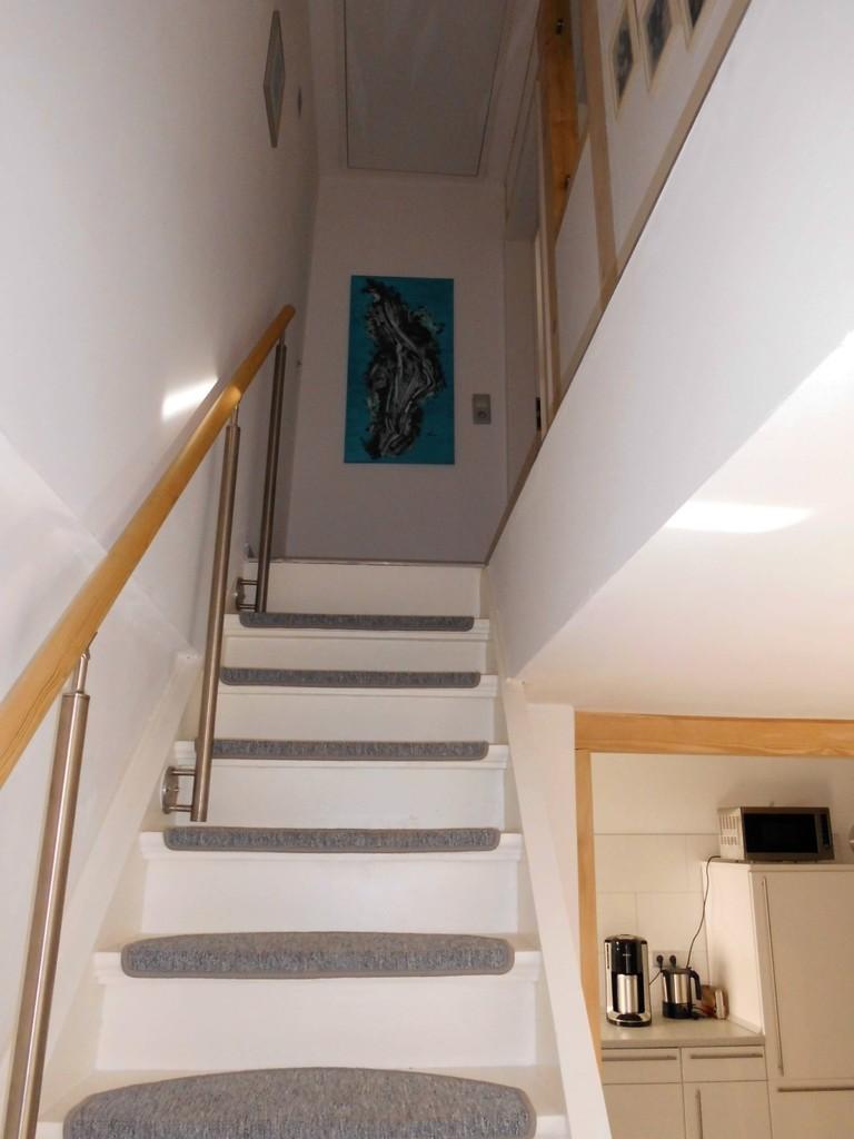Treppenaufgang zum Schlafbereich