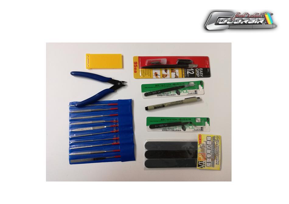 Modellbau Werkzeugset , Skalpel, Zange, Pinzette uvm.