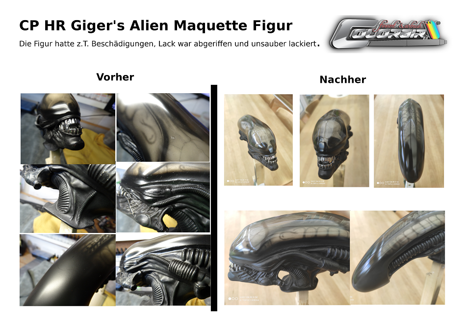 HR Giger Alien Maquette Figure Restauration Reparatur