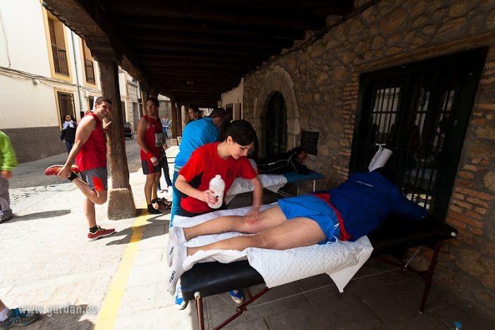 Servicio de masajes para los corredores