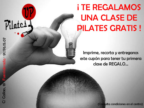 Cupón clase regalo Pilates Up