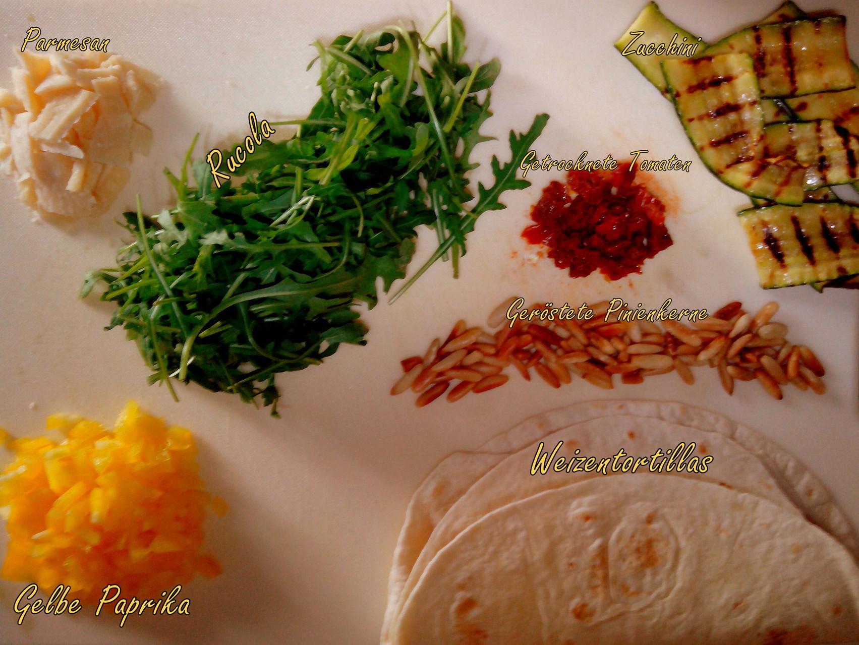 Zutaten für Gemüsewraps