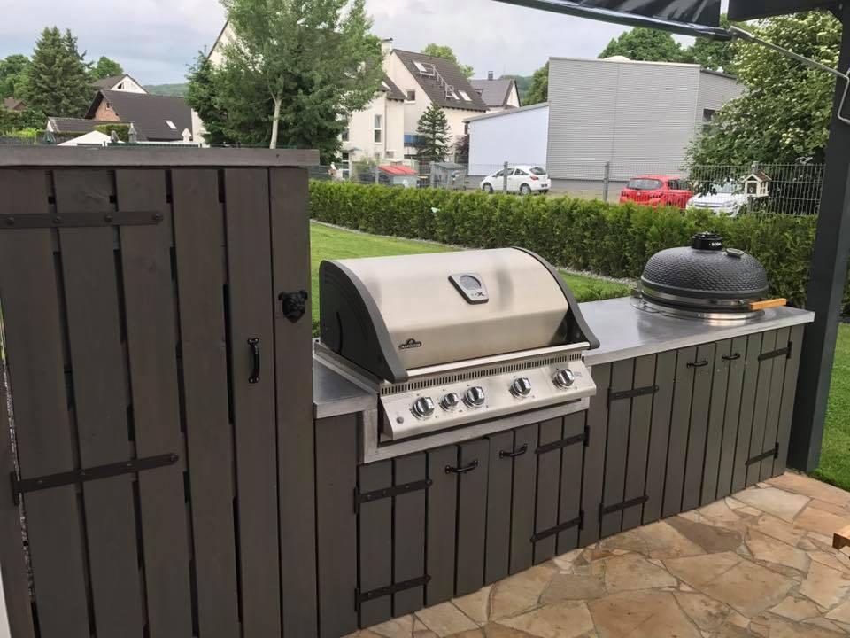 Napoleon Gasgrill Outdoorküche : Selbstgebaute outdoorküche mit napoleon grill und monolith kamado