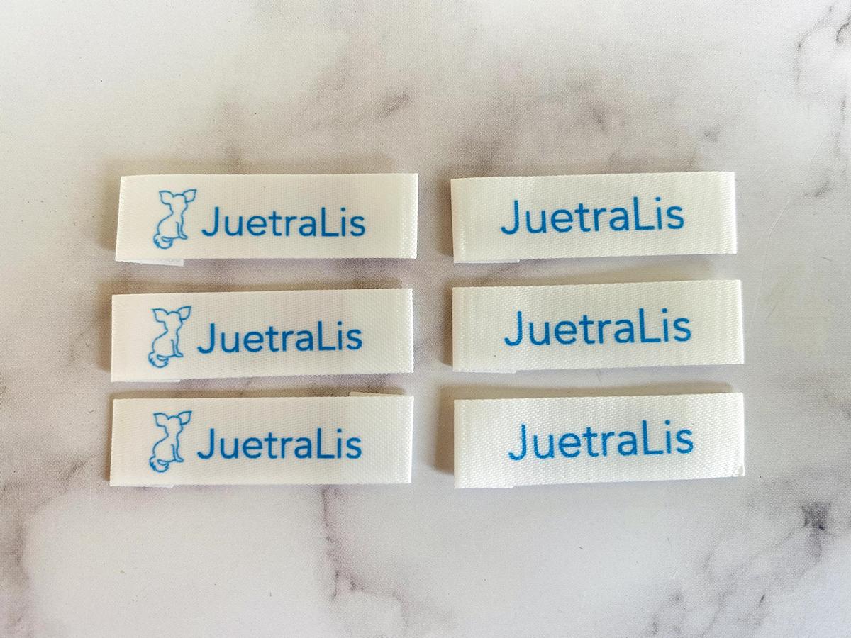 東京都文京区【JuetraLis/ジェトラリス】さまのブランドネームタグ製作