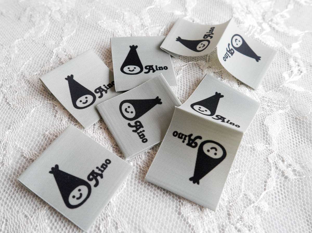 東京都小金井市【Aino】様よりご依頼のプリントネームタグ2種(素材違い)を印刷しました