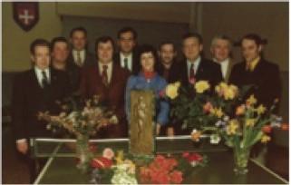 Der Vorstand des D.T. Linger und Berthy Krier