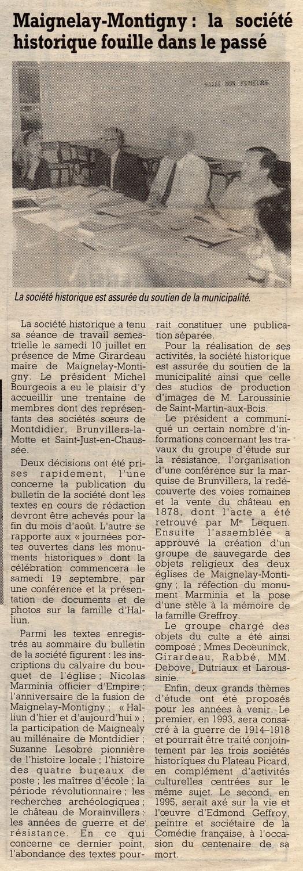 Le Courrier Picard du 1-2 août 1992