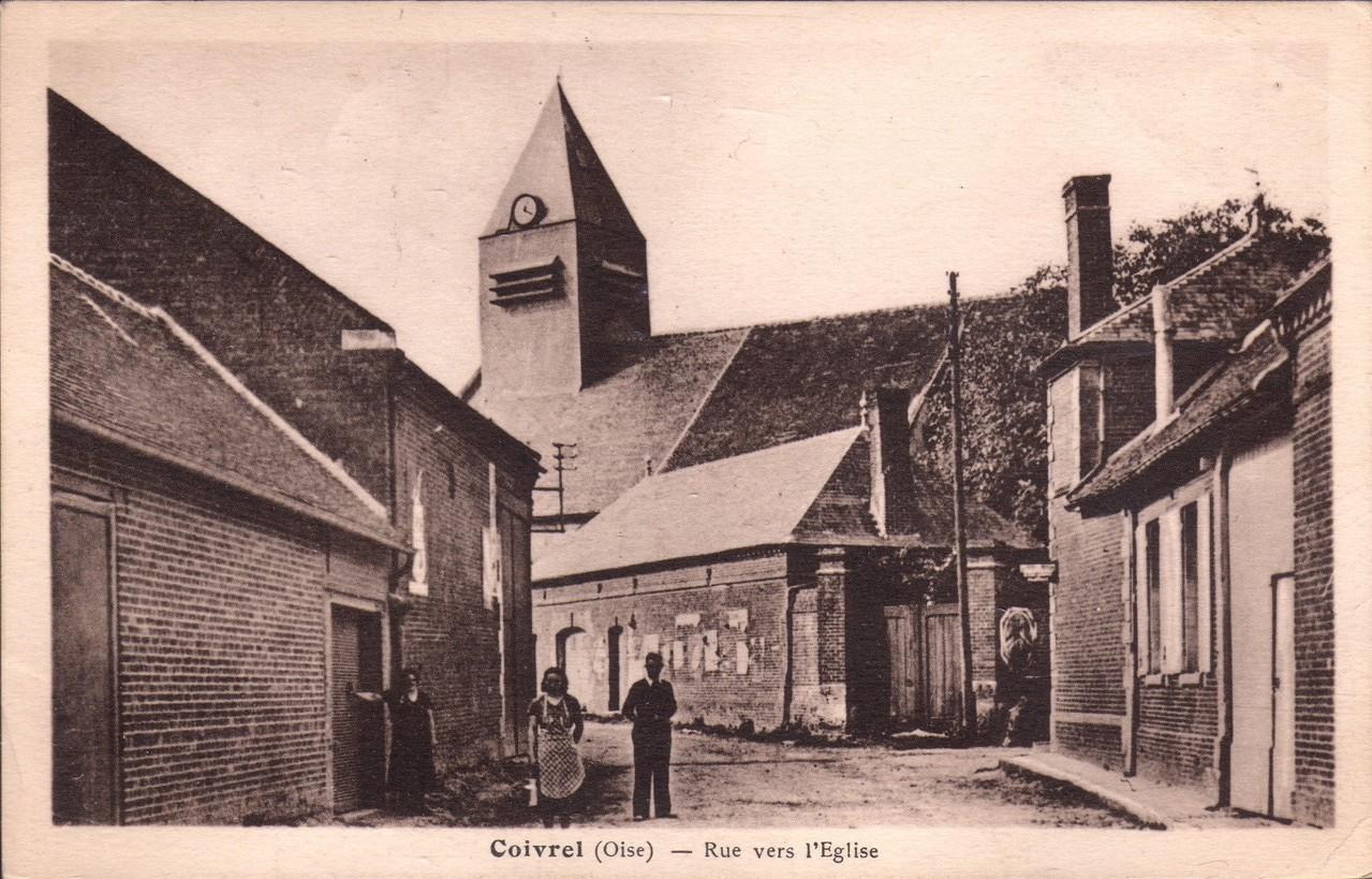 Rue vers l'Eglise - aujourd'hui Grande Rue (collection particulière)