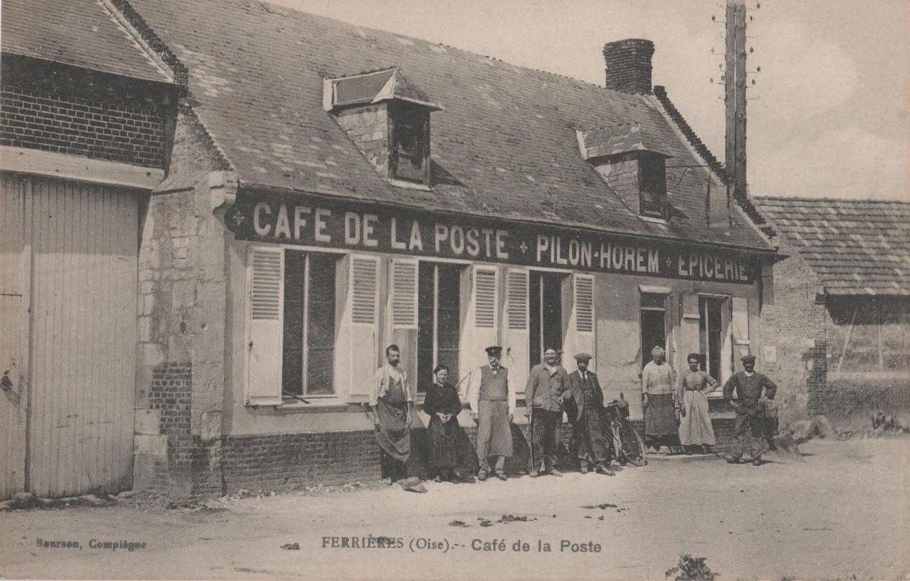 """Café de la Poste - aujourd'hui """"Chez Michel et Sylvie"""" (collection particulière)"""