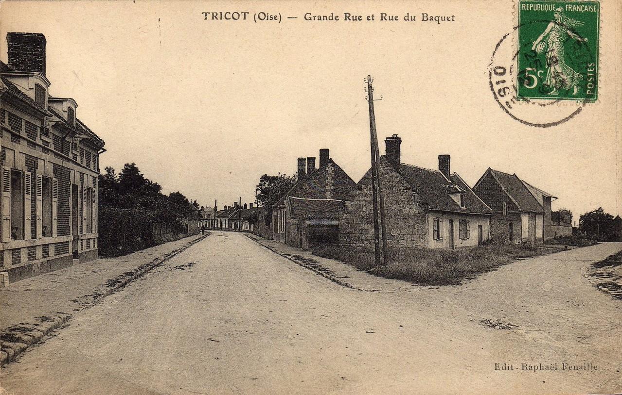 Grande Rue et Rue du Baquet (collection particulière)