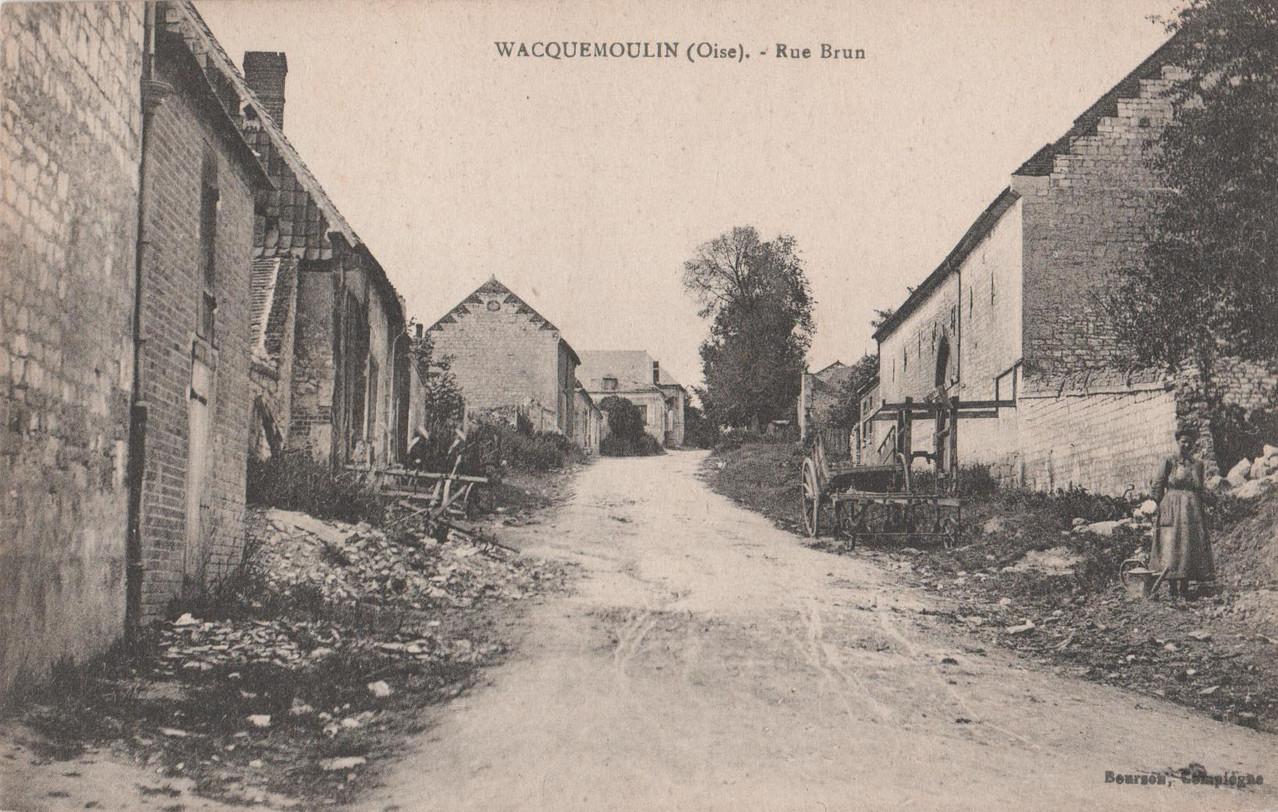 Rue Brun - aujourd'hui rue de la Gare (collection particulière)