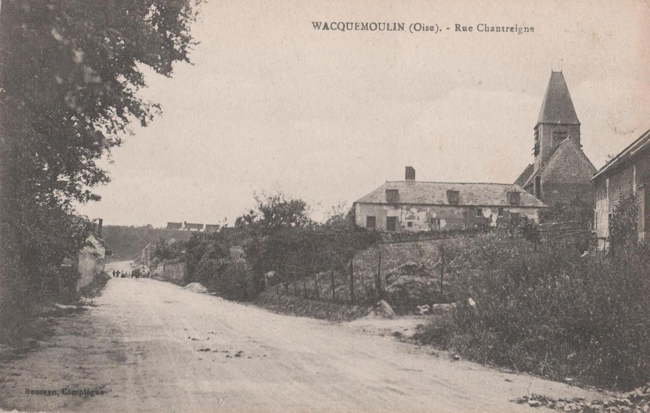 Rue Chantreigne - aujourd'hui rue de la Libération (collection particulière)