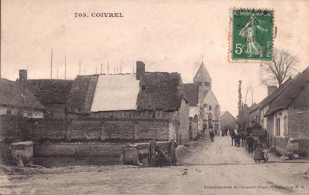 La Rue de l'église -aujourd'hui Grande Rue  (collection particulière)