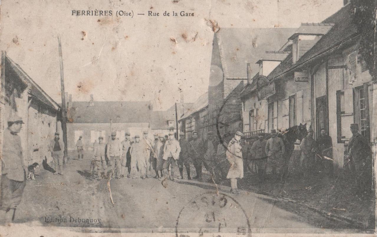 Rue de la Gare - aujourd'hui rue de la Gare (collection particulière)