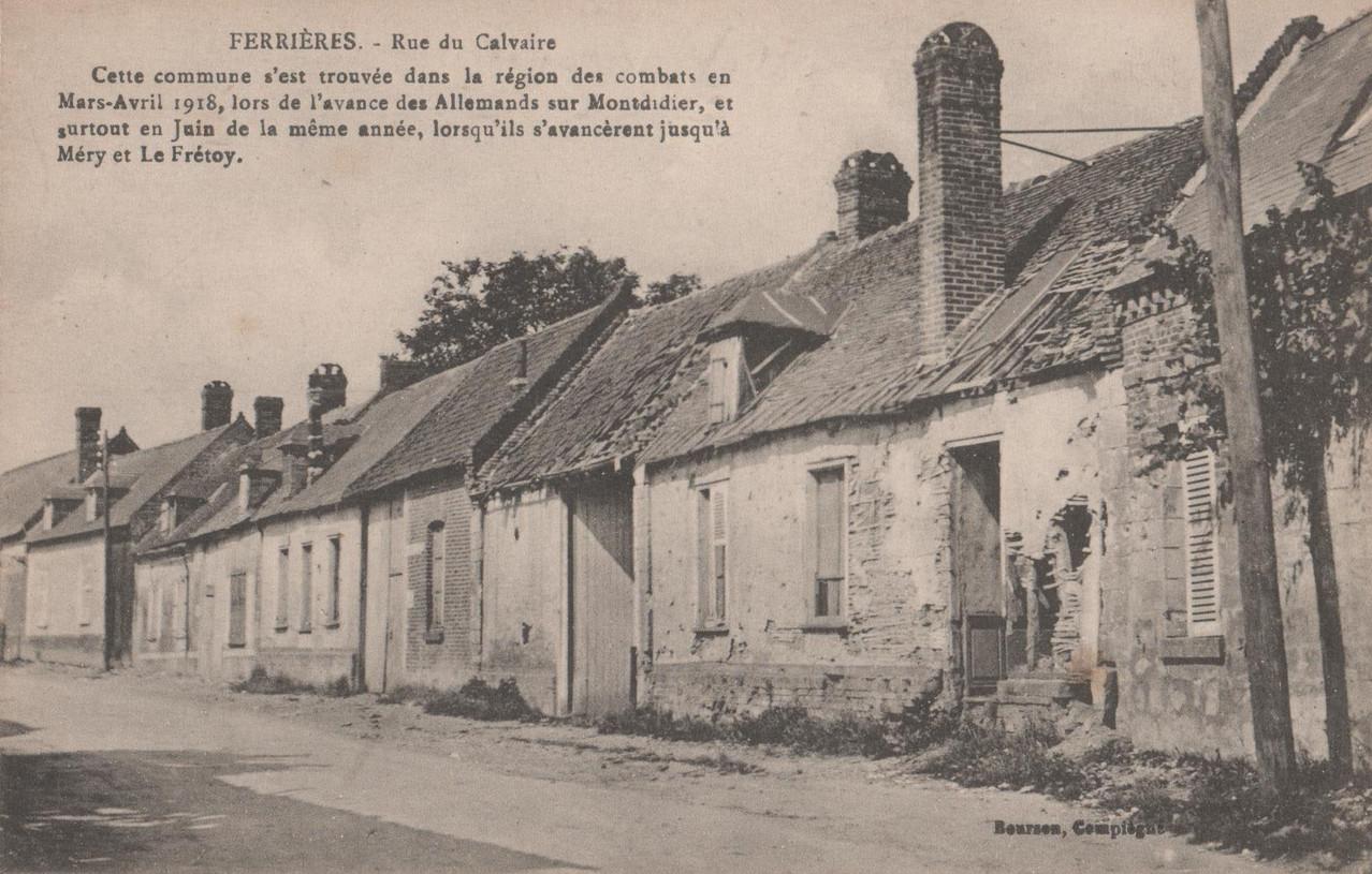 Rue du Calvaire (collection particulière)