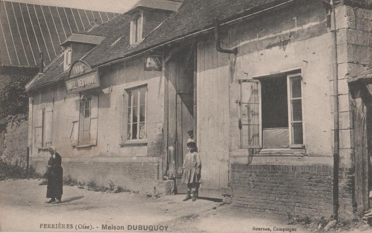 Maison Dubuquoy - aujourd'hui fermée, rue de la Croix (collection particulière)