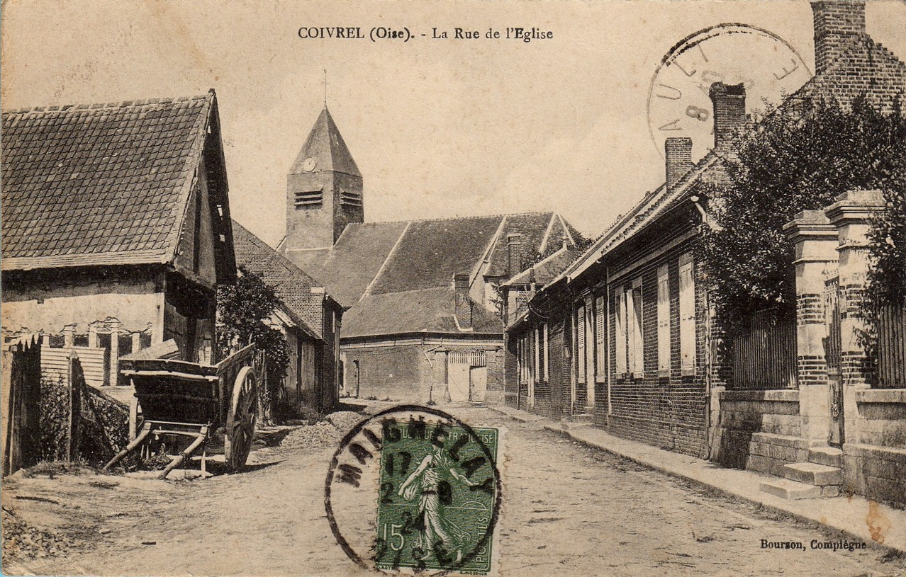 La Rue de l'Eglise - aujourd'hui Grande Rue (collection particulière)