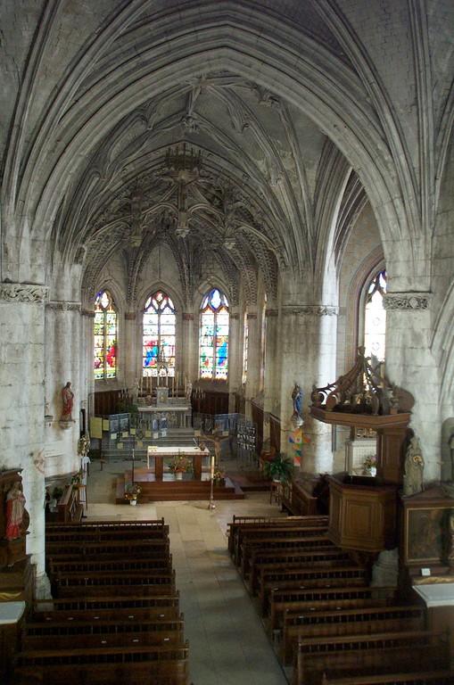 Intérieur de l'église Sainte-Marie-Madeleine (photo DD)