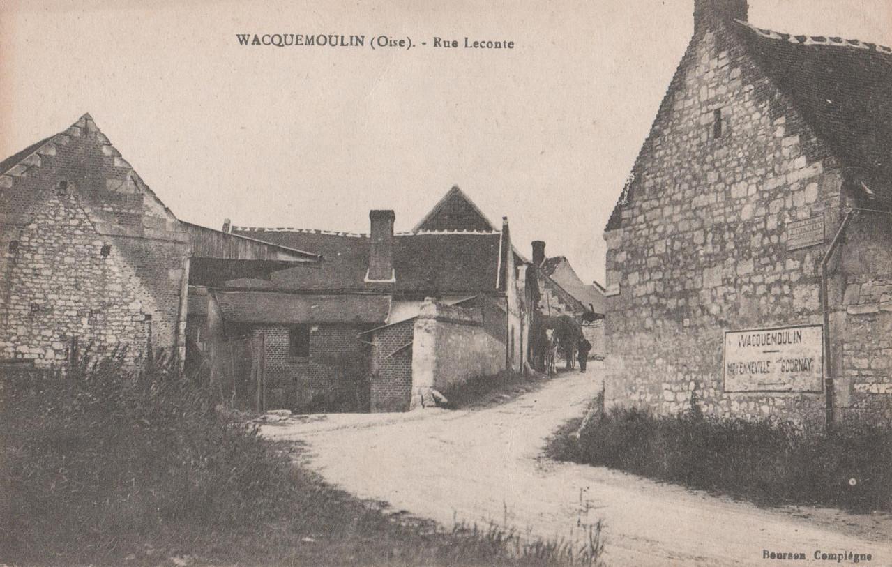 Rue Lecomte - aujourd'hui rue Saint-Christophe (collection particulière)