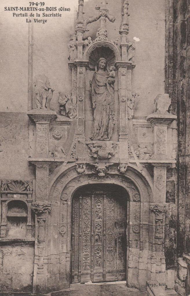 Portail de la Sacristie La Vierge (collection particulière)