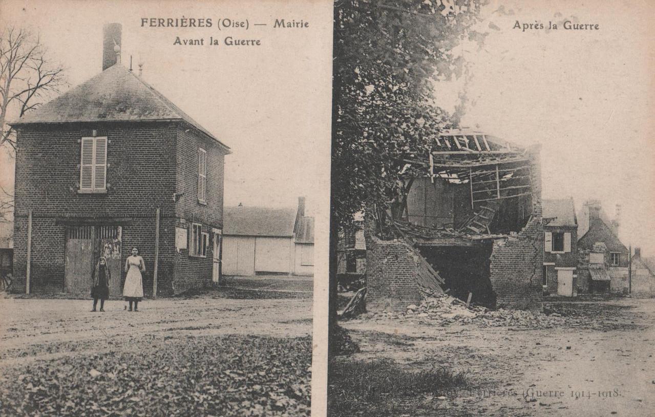 La Mairie avant 1914-18 (collection particulière)