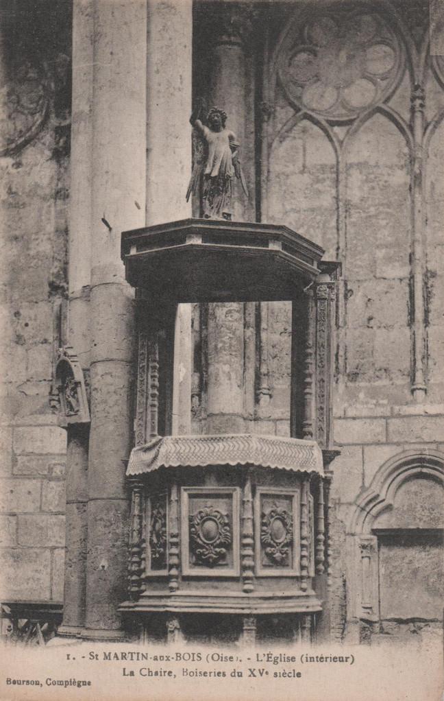 La Chaire, Boiseries du XVe siècle (collection particulière)