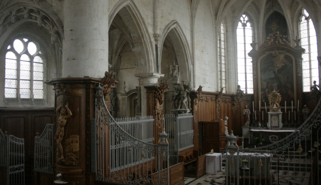 Le choeur de l'église Saint-Martin (photo DD)