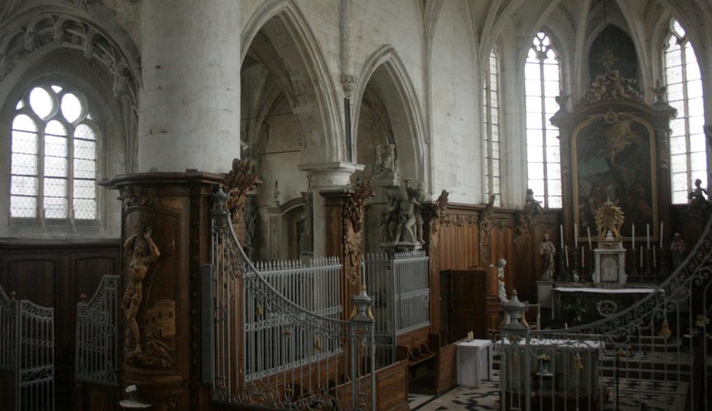Le choeur de l'église Saint-Martin (photo DD)
